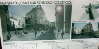 Obras, calle Aguilar y entorno Concepción